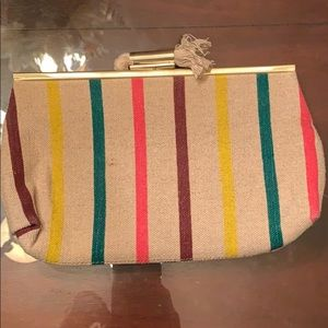 Jcrew striped small hand bag